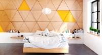 Nội thất gỗ ấn tượng cá tính cho phòng ngủ